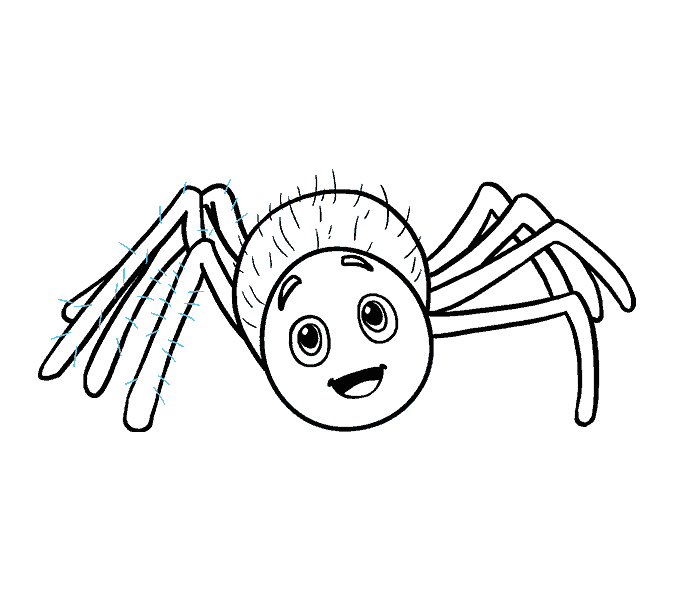 How to Draw Cartoon Spider: Step 18