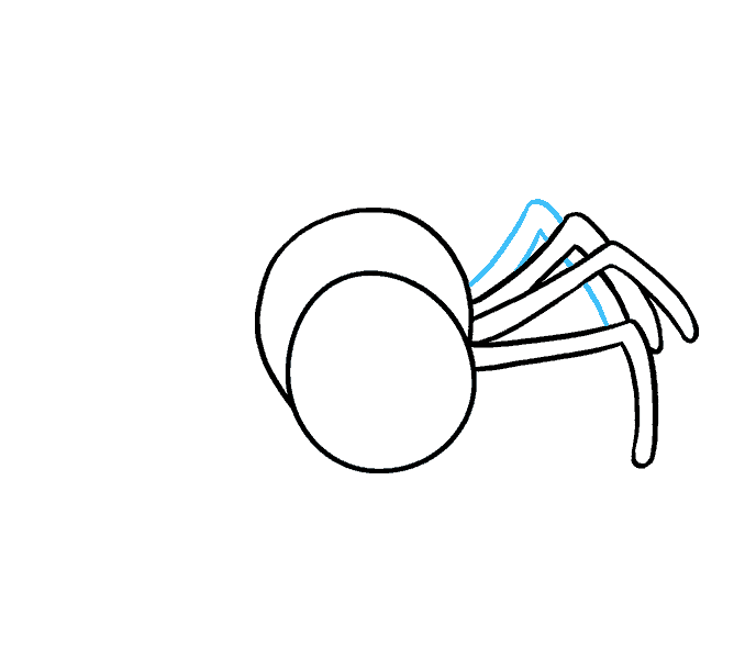 How to Draw Cartoon Spider: Step 6