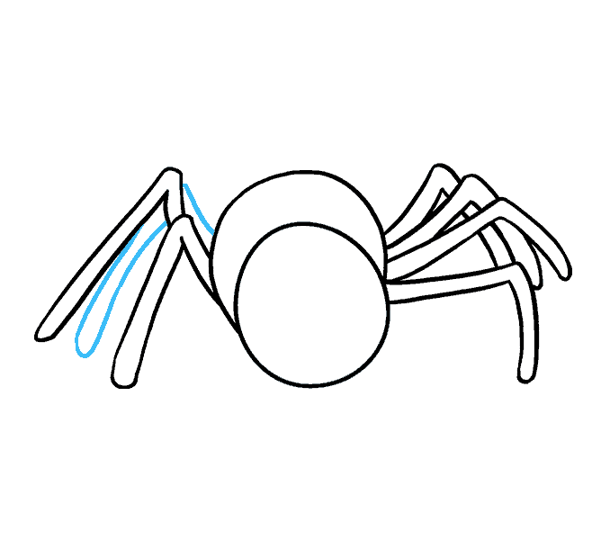 How to Draw Cartoon Spider: Step 9