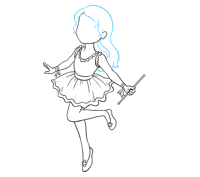 How to Draw Fairy: Step 14