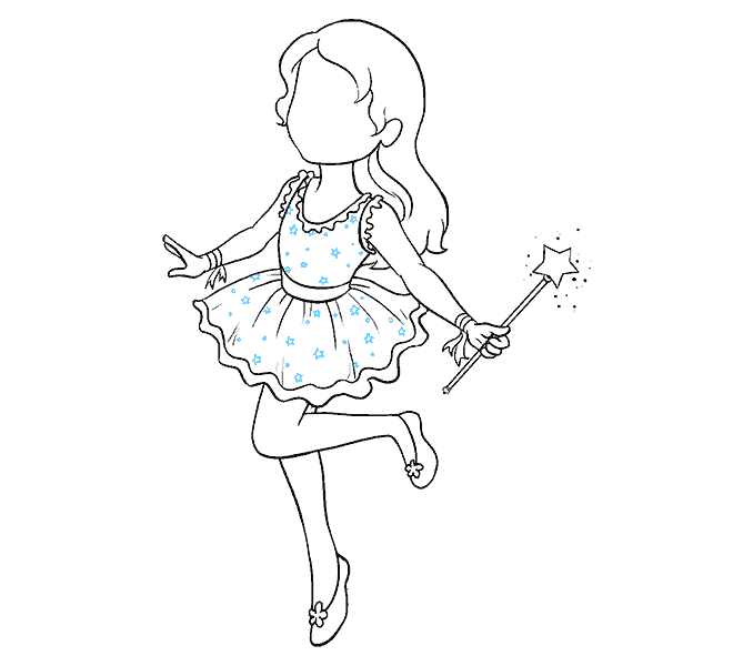 How to Draw Fairy: Step 16