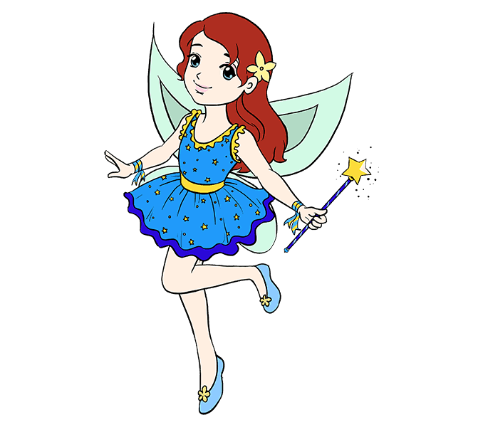 How to Draw Fairy: Step 20