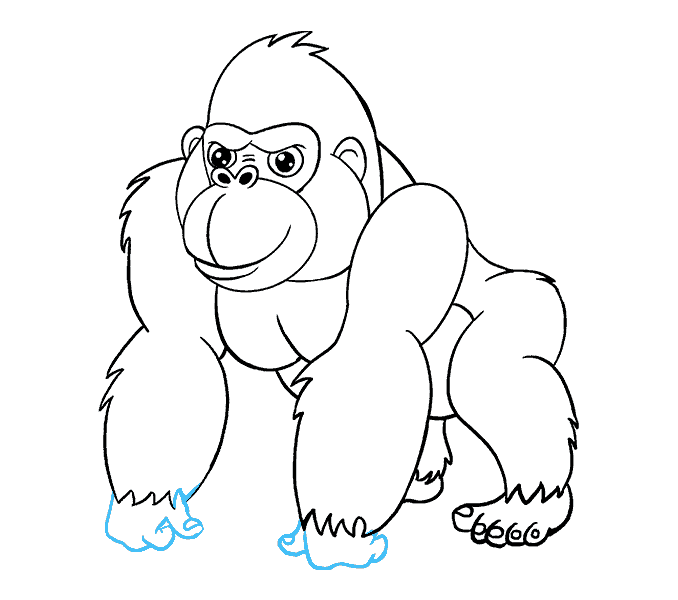 How to Draw Cartoon Gorilla: Step 18