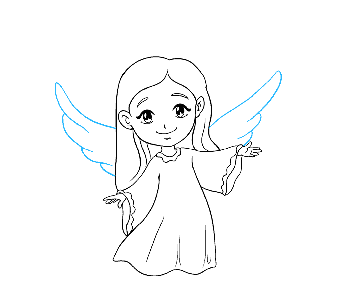 How To Draw An Angel In A Few Easy Steps Easy Drawing Guides