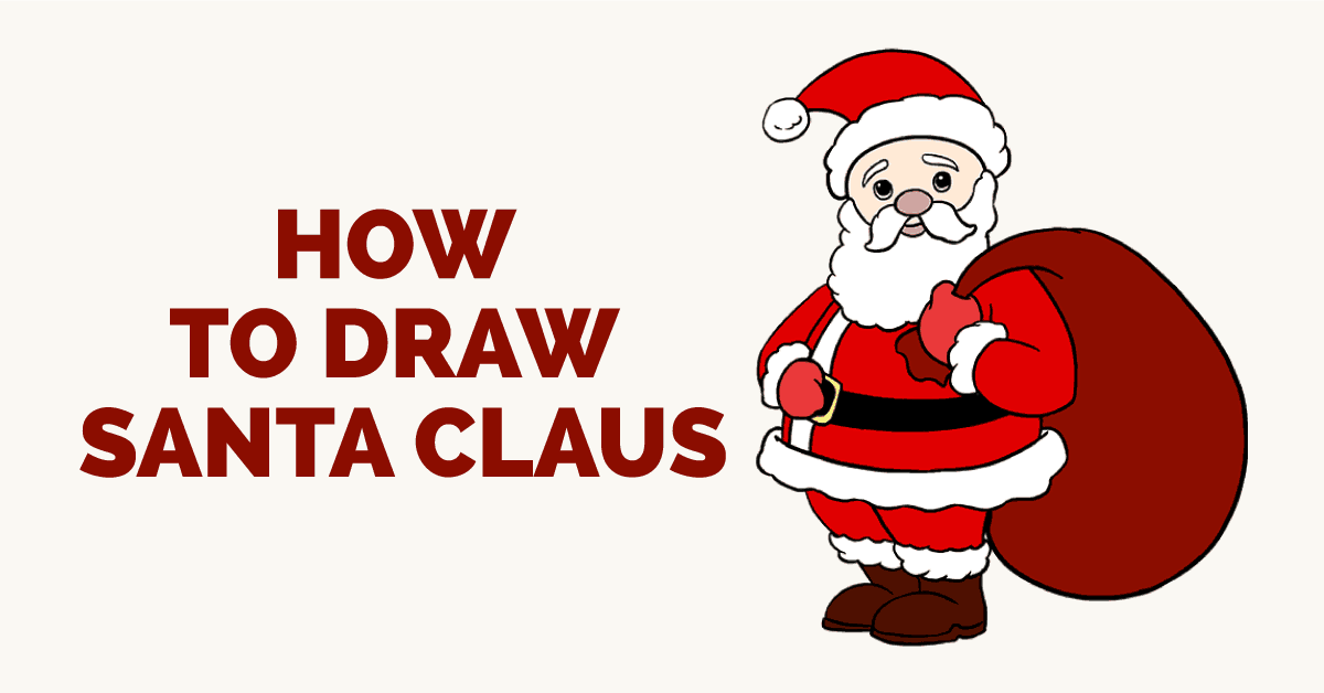 how to draw santa claus featured image