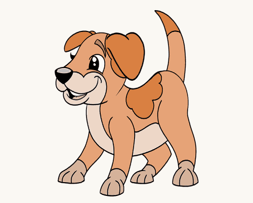Drawing tutorial: How to Draw a Cartoon Dog