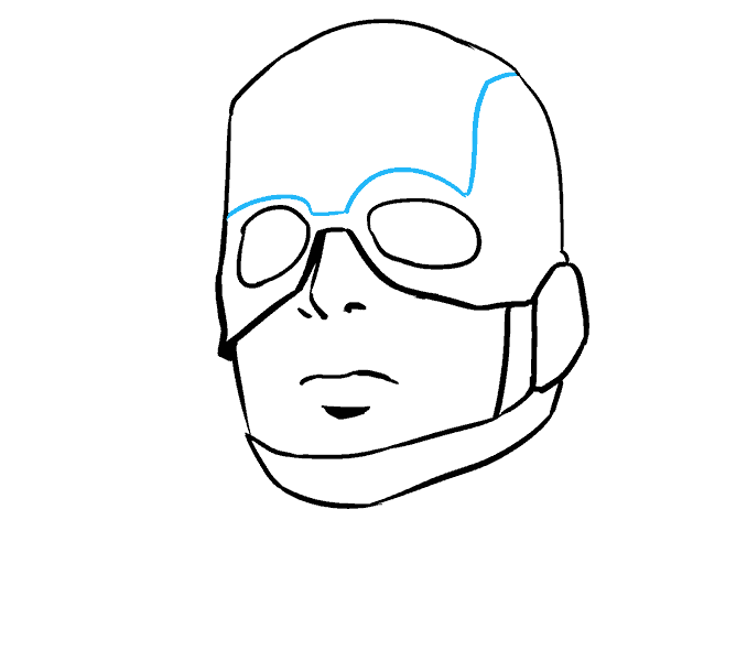 How to Draw Captain America: Step 11