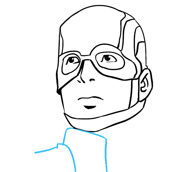 How to Draw Captain America: Step 16