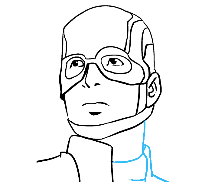 How to Draw Captain America: Step 17