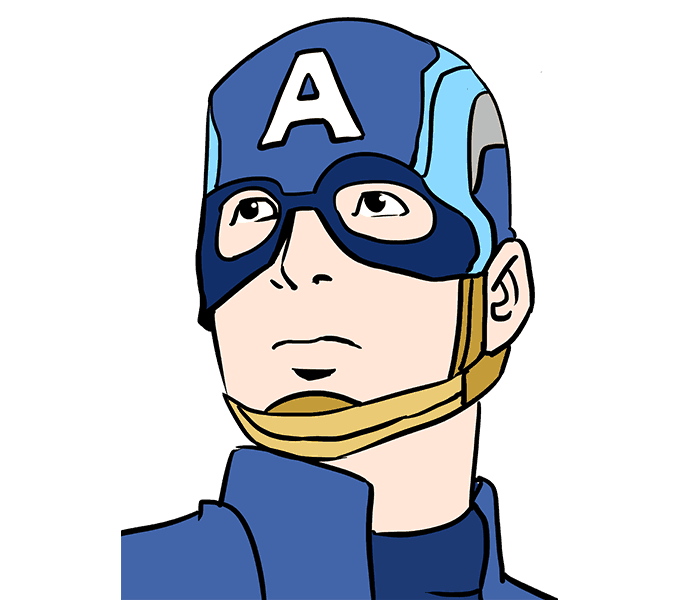 How to Draw Captain America: Step 20
