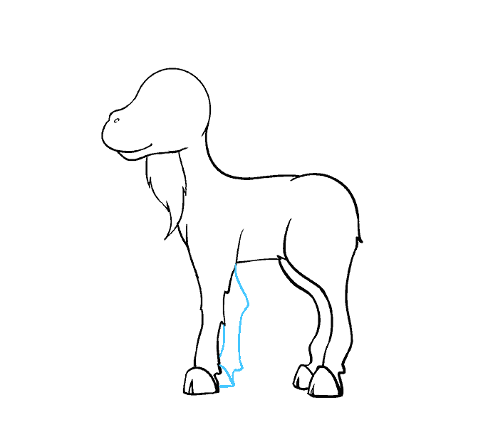 How to Draw Goat: Step 13