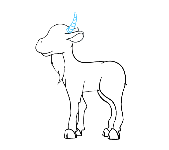 How to Draw Goat: Step 15
