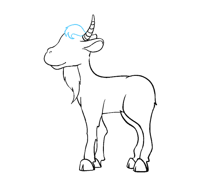 How to Draw Goat: Step 16