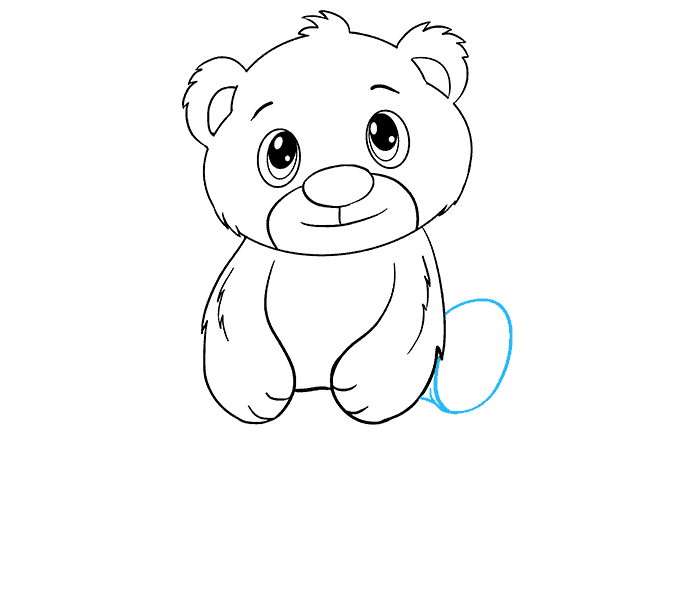 How to Draw Polar Bear Cub: Step 13
