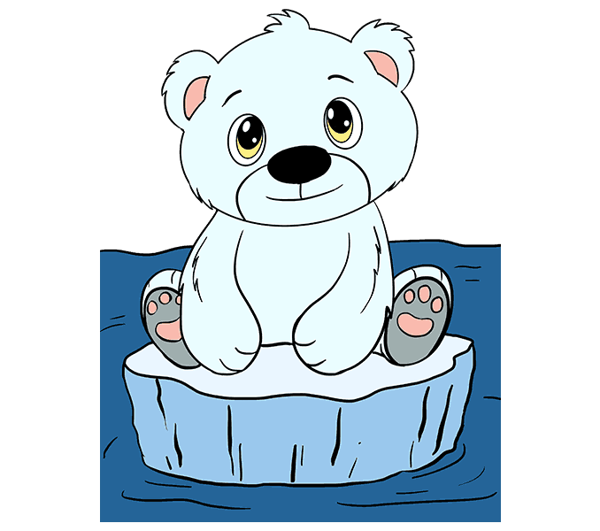 How to Draw Polar Bear Cub: Step 20