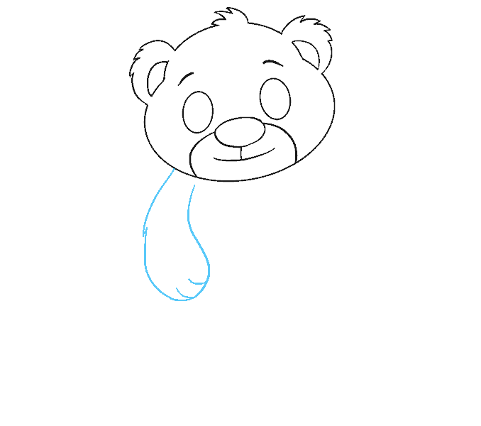 How to Draw Polar Bear Cub: Step 8