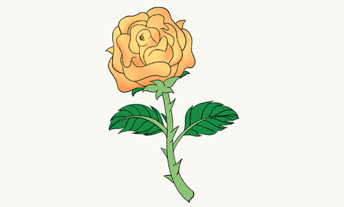Drawing tutorial: How To Draw a Rose with a Stem