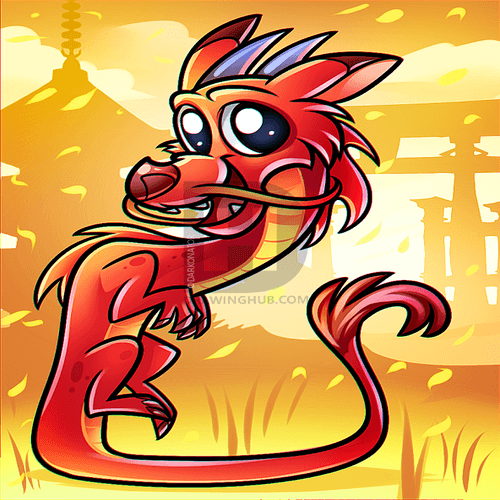 Drawing tutorial: How to Draw a Cute Chinese Dragon