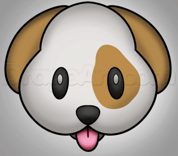 Drawing tutorial: How to Draw a Dog Face Emoji