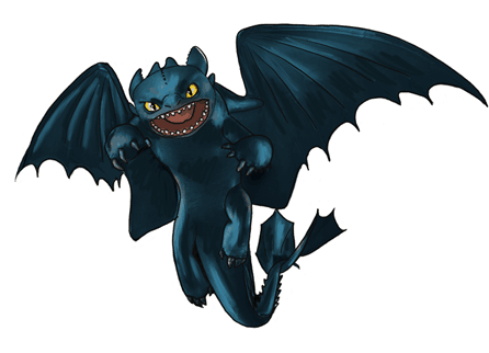 Drawing tutorial: How to Draw Toothless from How to Train Your Dragon