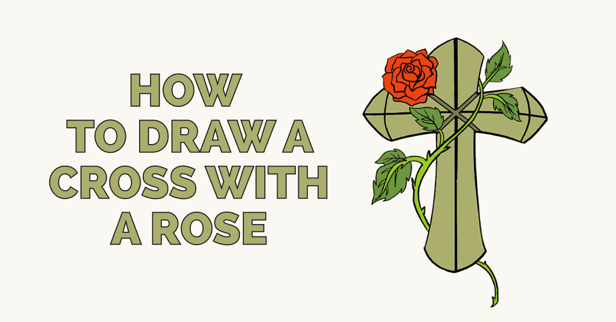 How to Draw a Cross with a Rose: Featured image