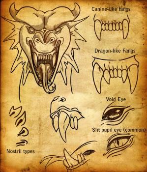 Drawing tutorial: How to Draw a Dragon Face