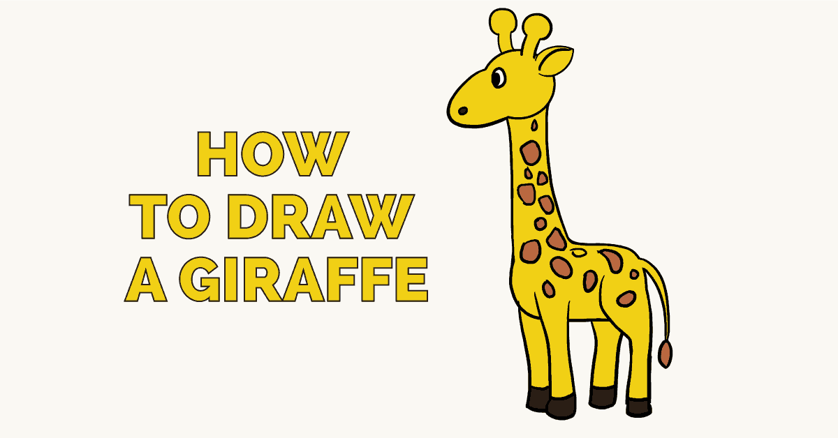 How to draw a baby giraffe