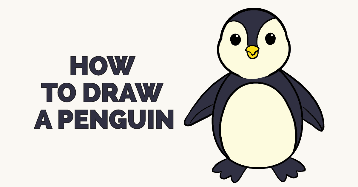 How To Draw A Cartoon Penguin | Safe Videos for Kids
