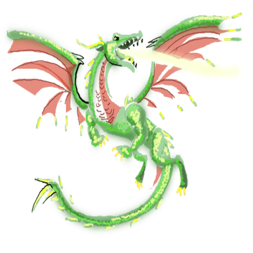 Drawing tutorial: How to Draw a Dragon in Flight
