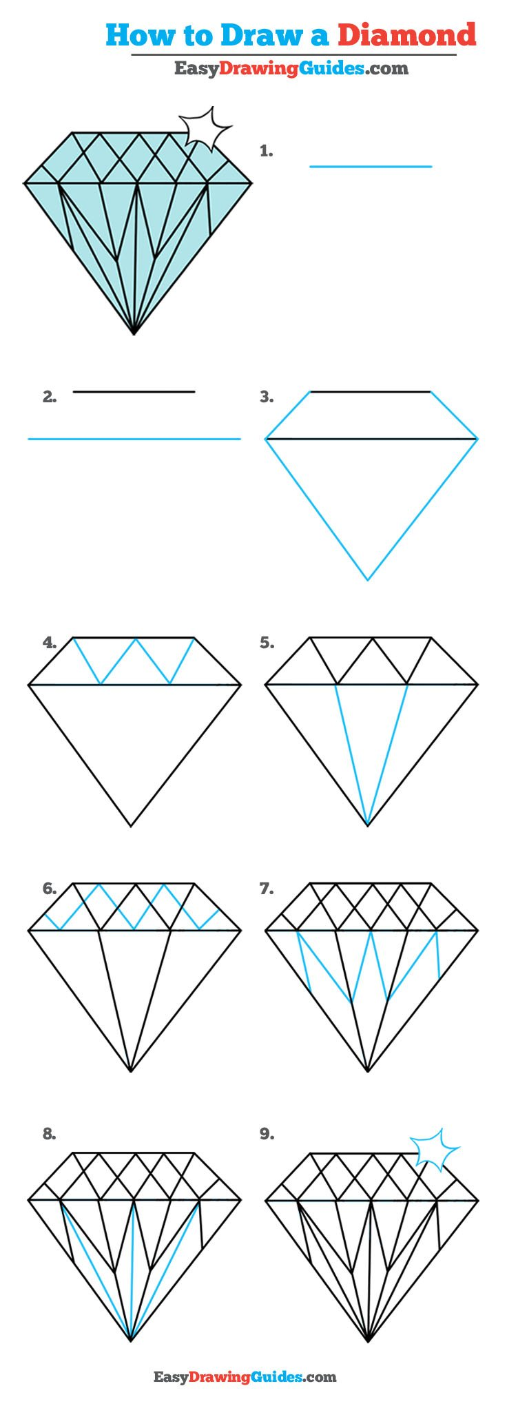 How to Draw Diamond