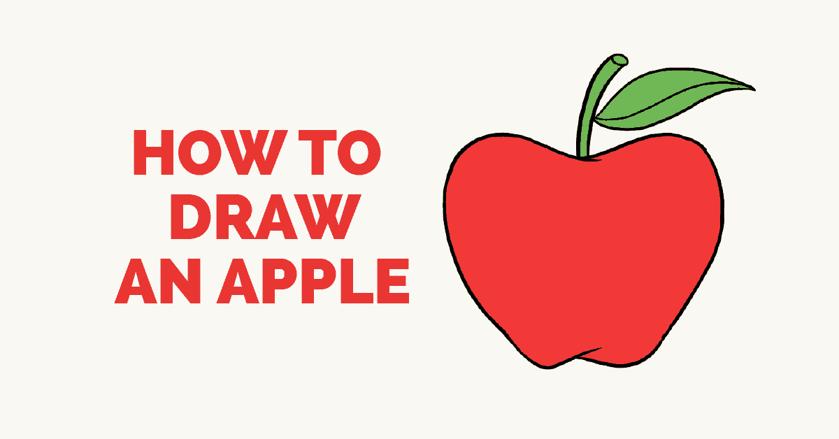 How To Draw An Apple Really Easy Drawing Tutorial