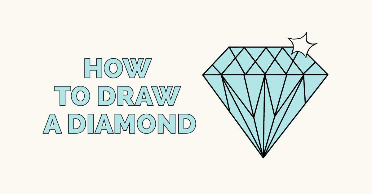 How to draw a diamond featured image