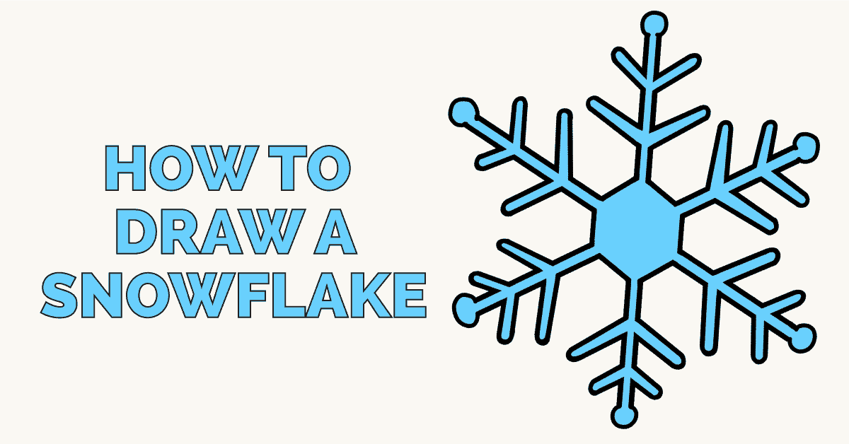 How To Draw A Snowflake Really Easy Drawing Tutorial