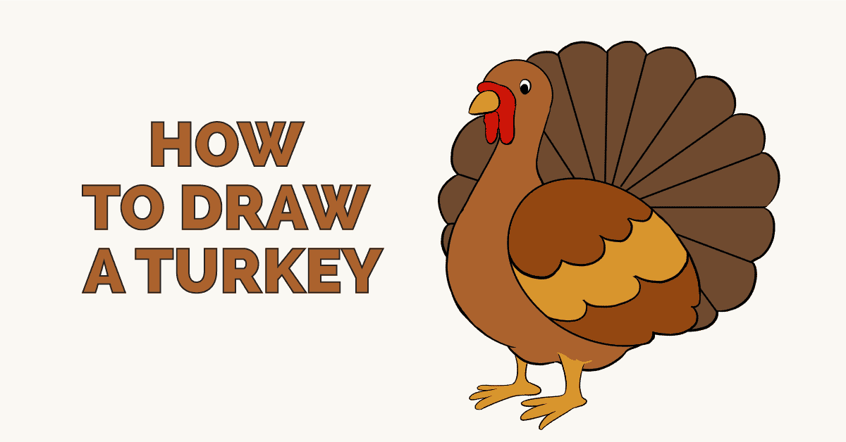 How to Draw a Turkey - Really Easy Drawing Tutorial