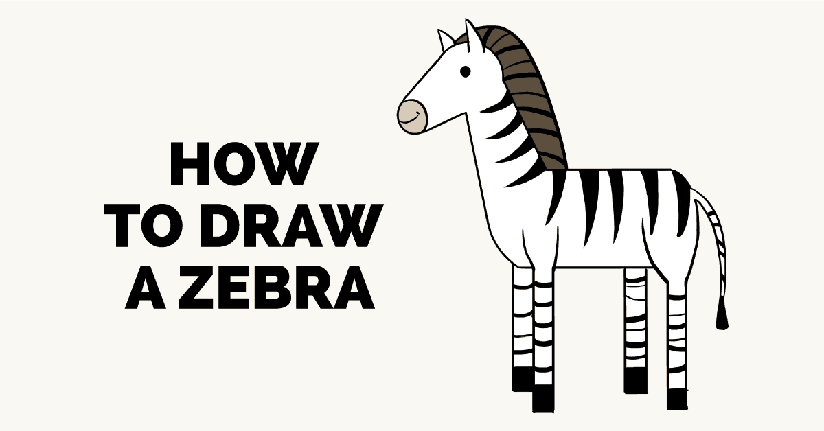 How to Draw a Zebra: Really Easy Drawing Tutorial