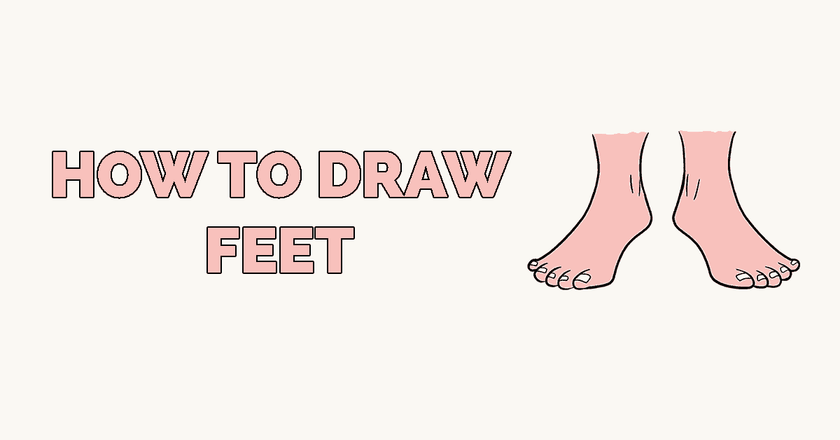 How to Draw Feet Featured