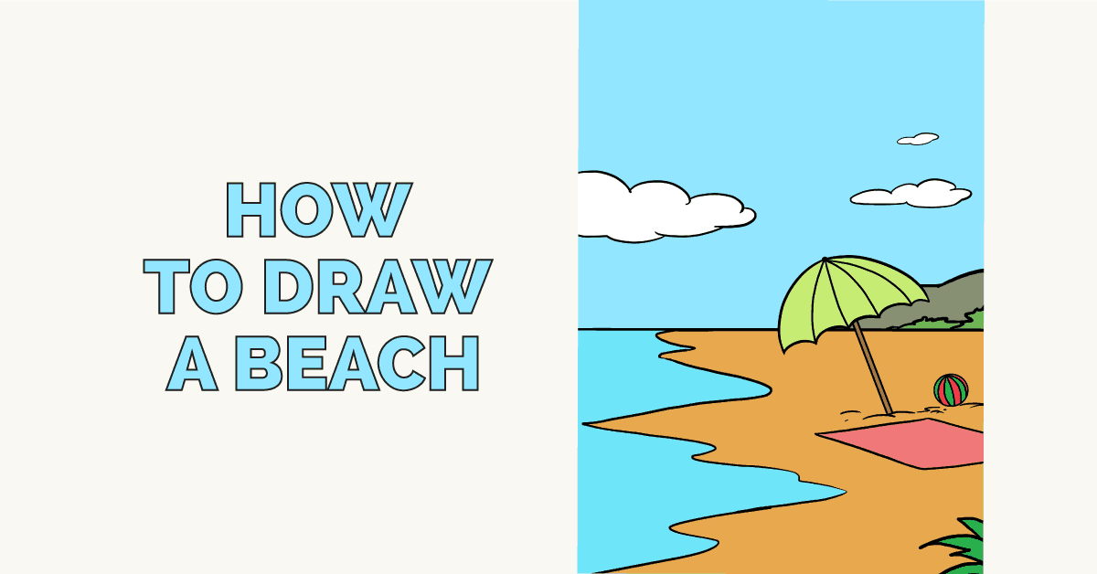 How to draw a beach - featured image