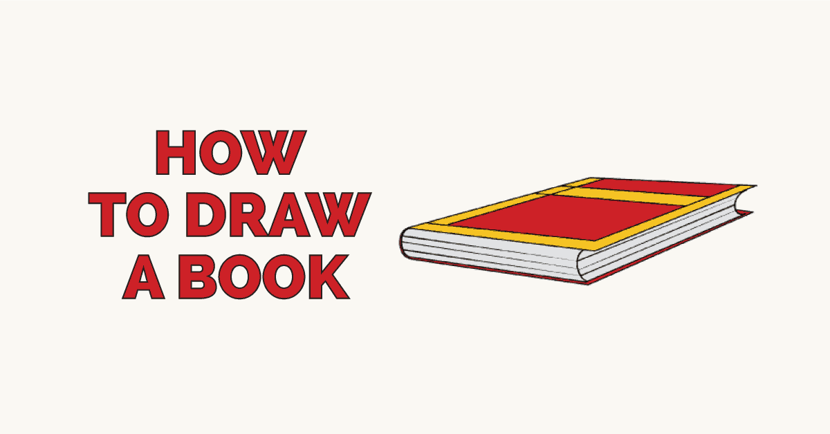How to draw a book - featured