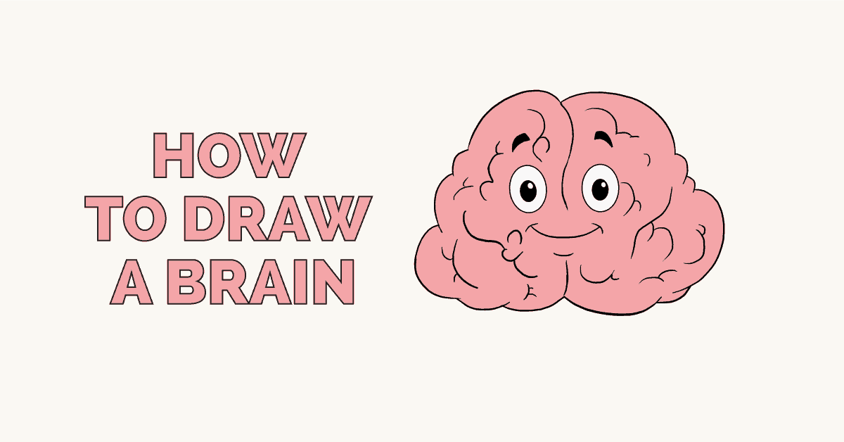 How To Draw A Brain Really Easy Drawing Tutorial