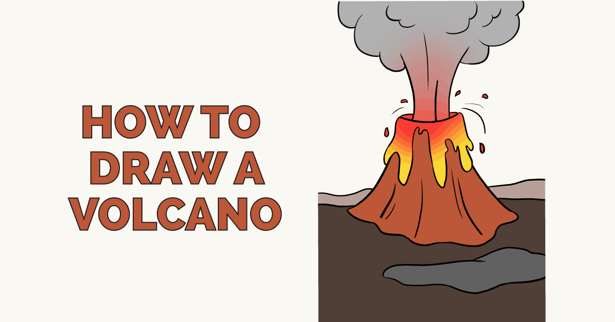 How to draw a volcano really easy drawing tutorial ccuart Images