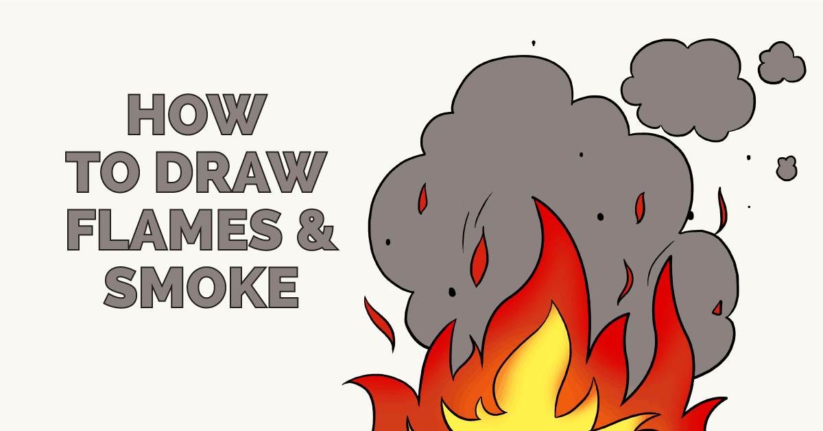 How to Draw Flames and Smoke - Really Easy Drawing Tutorial