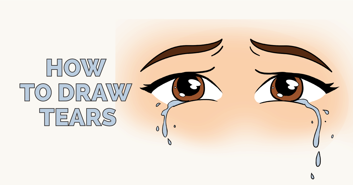 how to draw tears really easy drawing tutorial