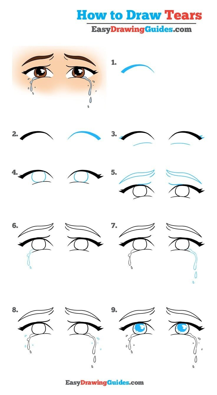 How to Draw Tears - Really Easy Drawing Tutorial