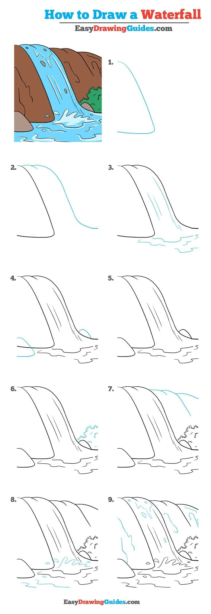 How to Draw Waterfall