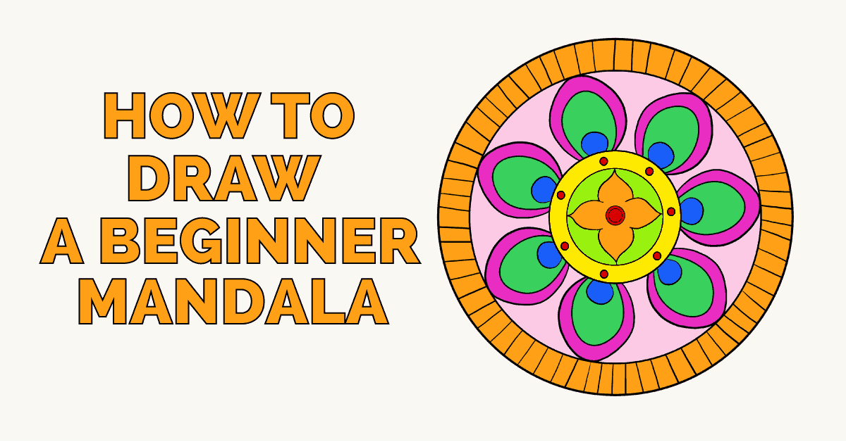 How To Draw A Beginner Mandala Really Easy Drawing Tutorial