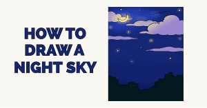 How to Draw a Night Sky Featured Image