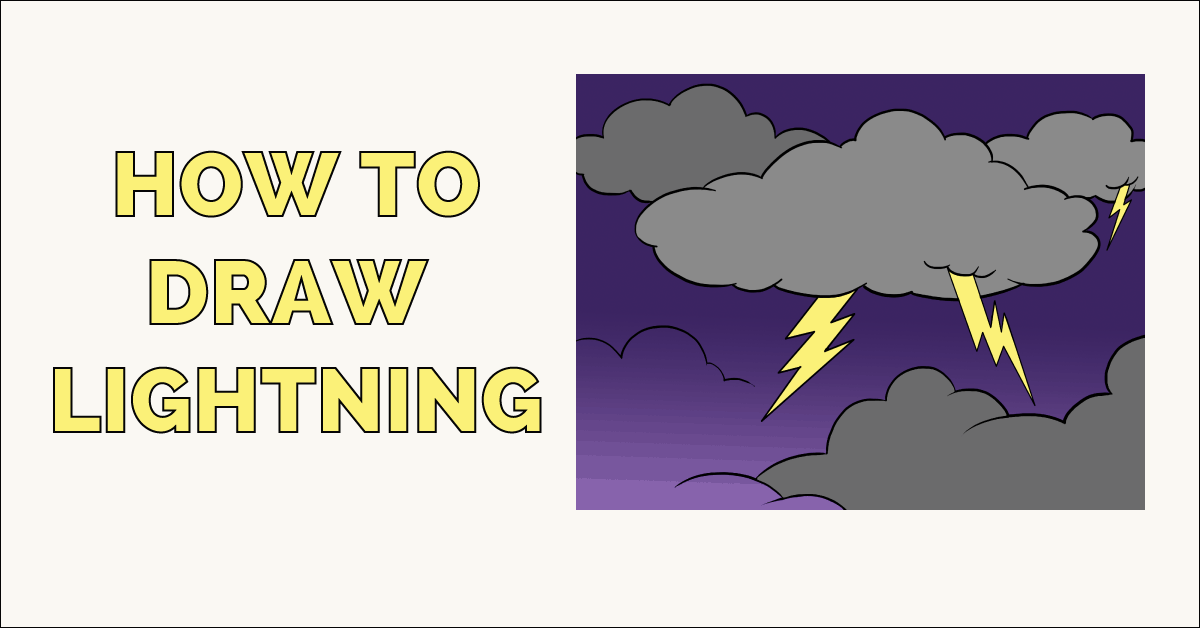 How to Draw Lightning Featured image