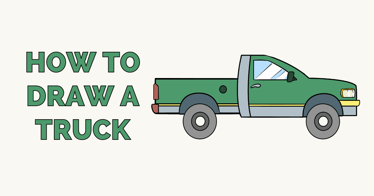 How To Draw A Truck Really Easy Drawing Tutorial