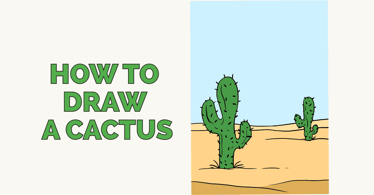 How to draw a cactus - featured image