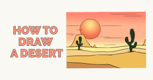 How to draw a desert - featured image